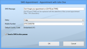 SMS Appointment for Outlook